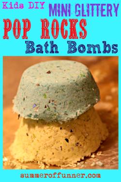 Featured Image Kids DIY Mini Glittery Pop Rocks Bath Bombs