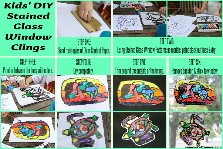 Kids' DIY Stained Glass Window Clings - Summer of Funner