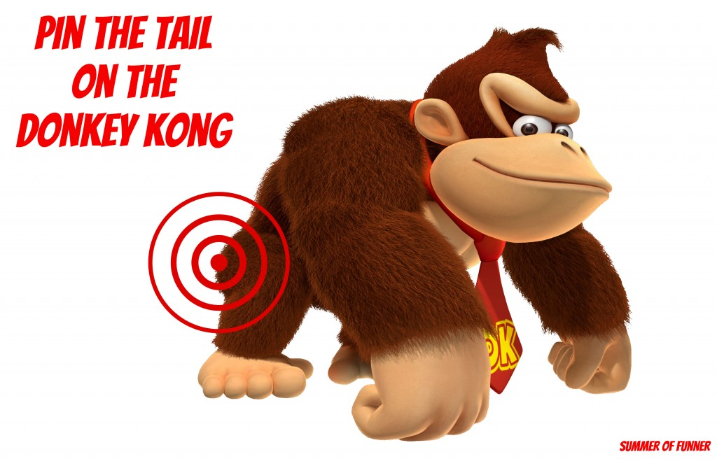 Pin The Tail On The Donkey Kong : Free Printable Poster