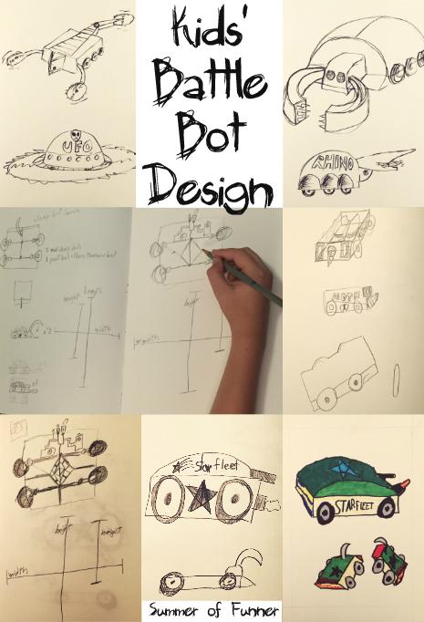 Kids' Battle Bot Design Visual DIY