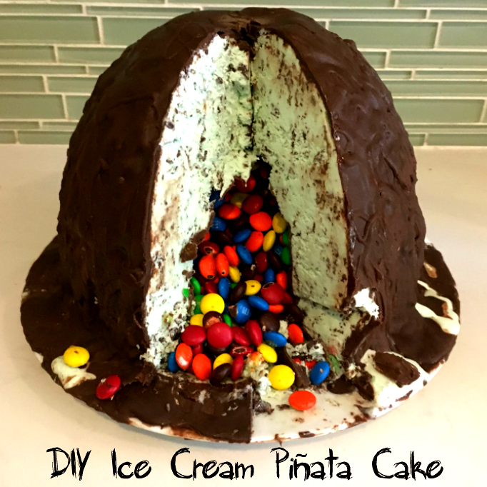 Summer of Funner's DIY Ice Cream Piñata Cake