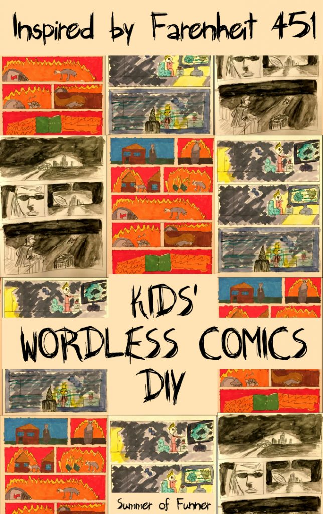 Inspired by Farenheit 451 Kids' Wordless Comics DIY