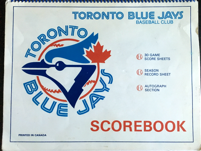 my blue jays scorebook