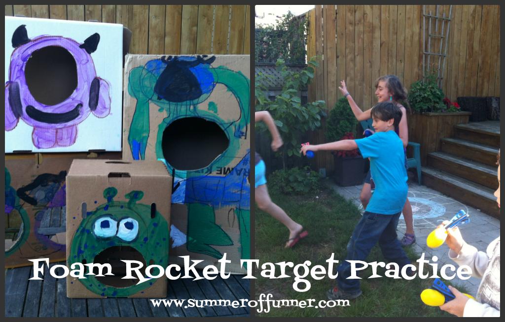 Foam Rocket Target Practice Game
