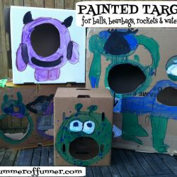 Painted Targets for Balls Beanbags Rockets and Water Balloons