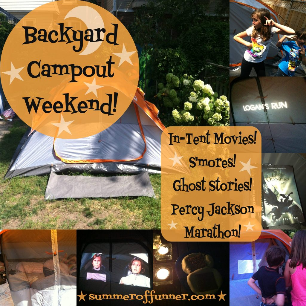 Have a Backyard Campout Weekend with In-Tent Movies S'mores Ghost Stories and a Percy Jackson (Reading) Marathon