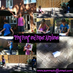 Ping Pong and Paper Airplanes Simple Outdoor Fun for Kids
