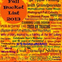 Fall Bucket List 2013