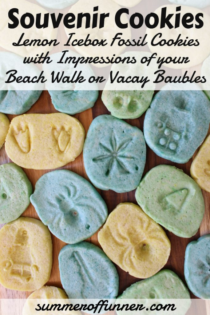 Souvenir Cookies Lemon Icebox Fossil Cookies with Impressions of your Beach Walk or Vacay Baubles