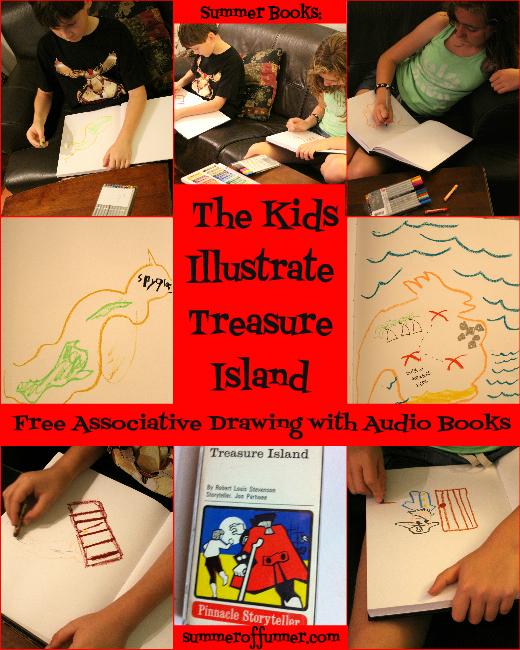 Summer Books The Kids Illustrate Treasure Island Free Associative Drawing with Audio Books 1