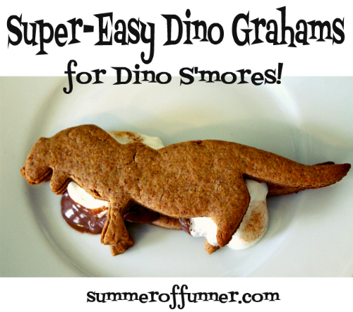 super easy dino grahams recipe for dino s'mores