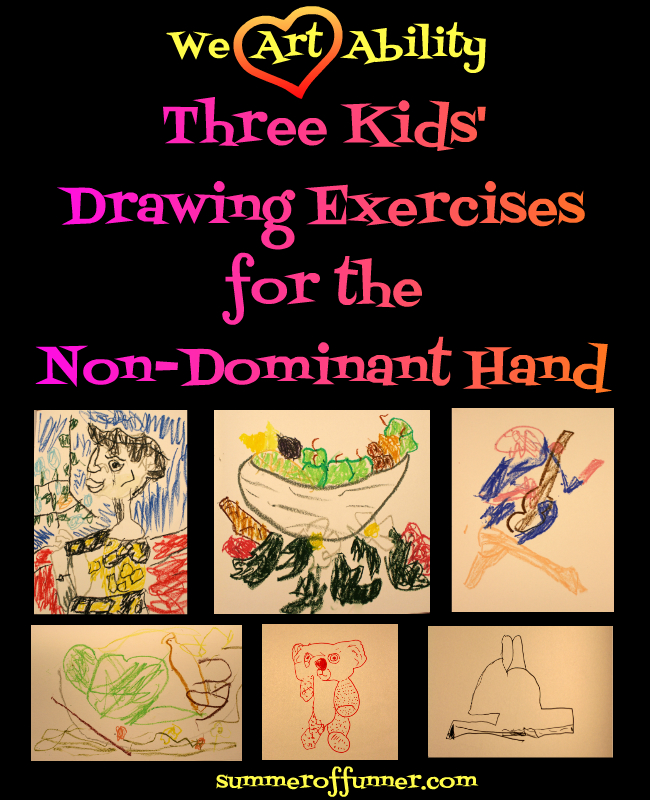 we art ability three kids' drawing exercises for the non-dominant hand
