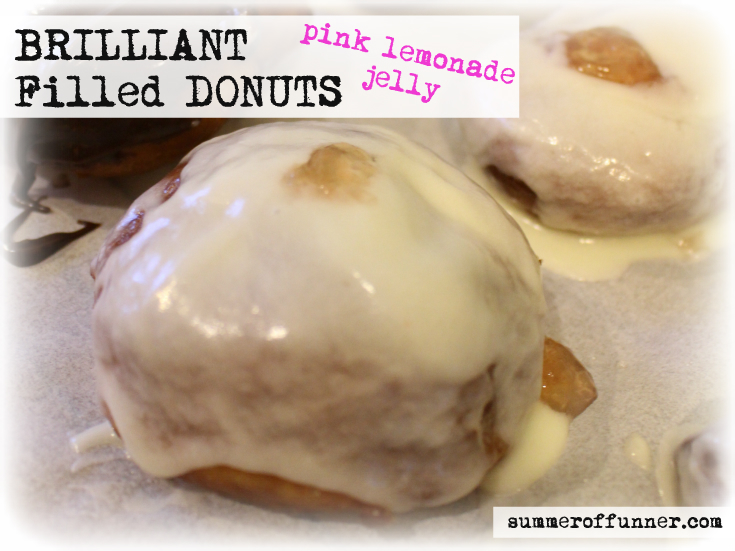 Brilliant pink lemonade jelly Filled DONUTS