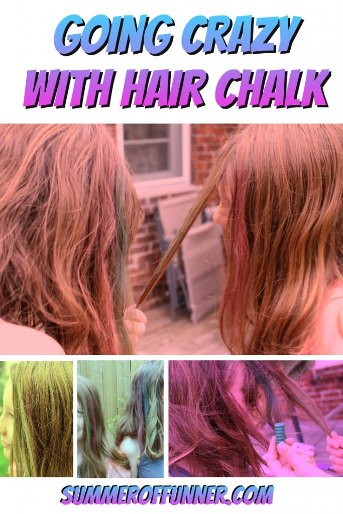 Going Crazy with Hair Chalk
