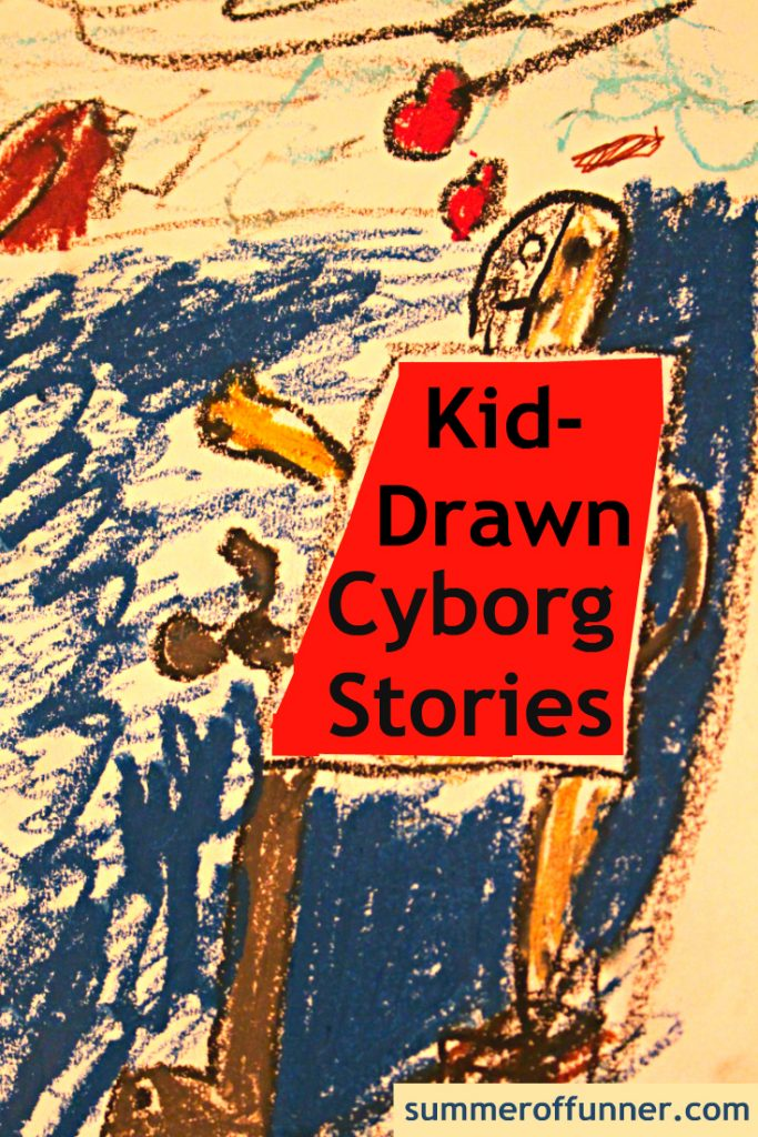 Kid-Drawn Cyborg Stories