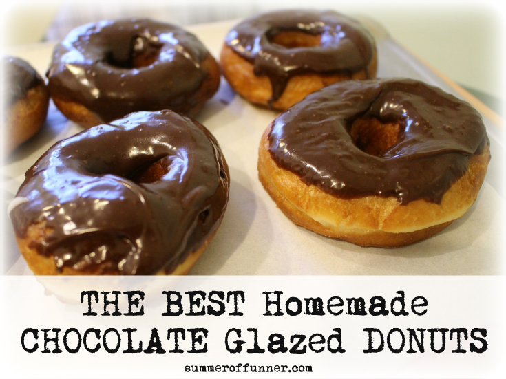 THE BEST Homemade CHOCOLATE glazed DONUTS