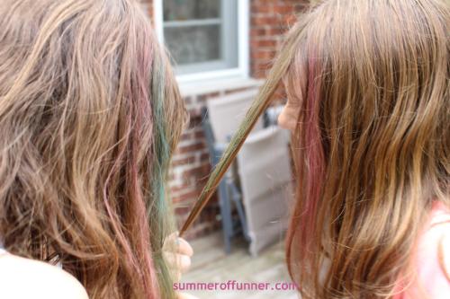 hair chalk fun