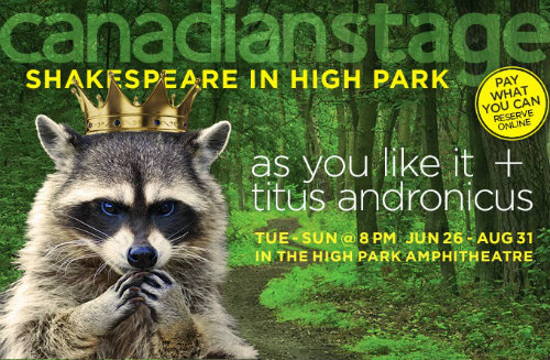 shakespeare in high park poster awesome