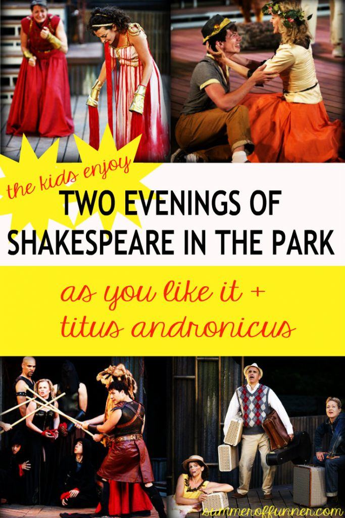 the kids enjoy two evenings of shakespeare in the park