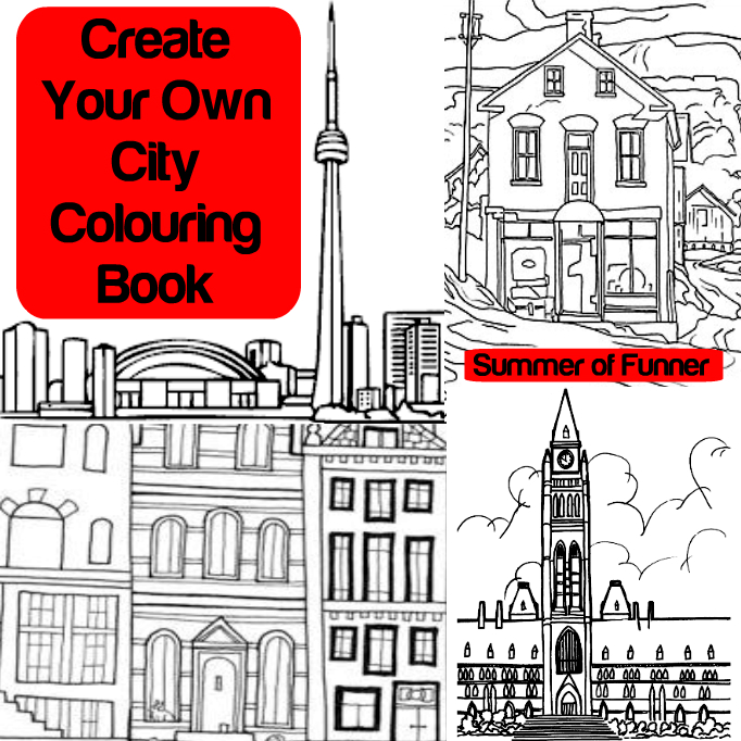 Create Your Own City Colouring Book Summer of Funner