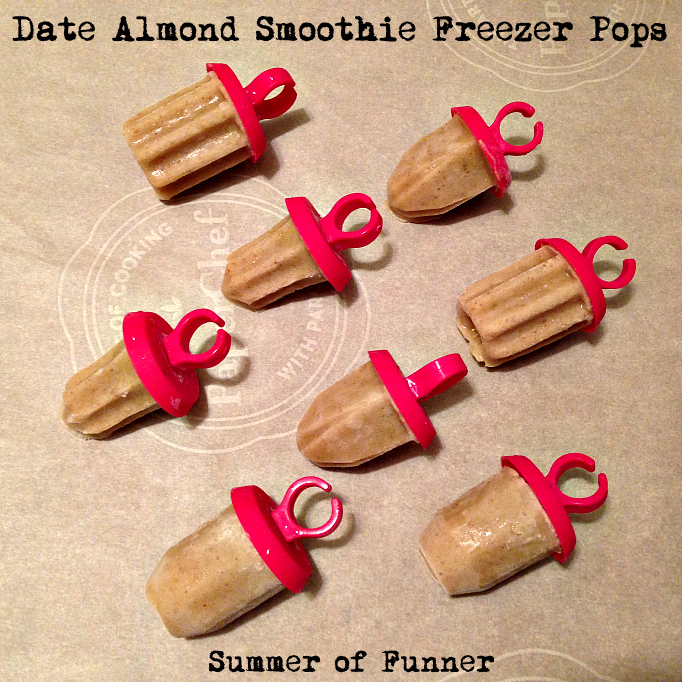 Date Almond Smoothie Freezer Pops from Summer of Funner