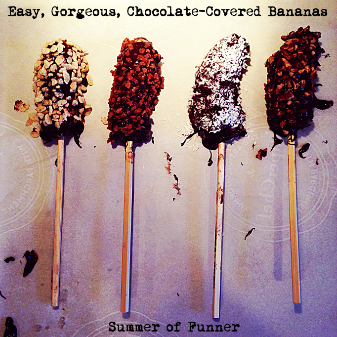 Easy, Gorgeous, Chocolate-Covered Bananas Kid Made Kid Friendly But Chic Enough for Your Fanciest Summer Fete Served Cold or Frozen