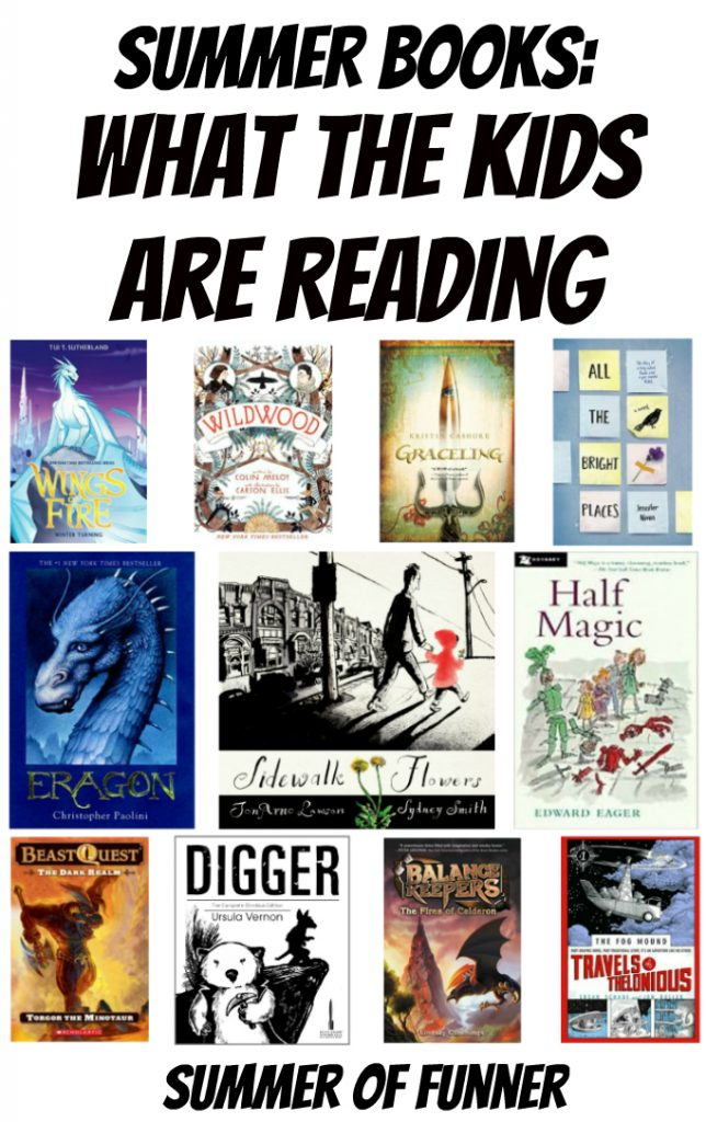 Summer Books What the Kids are Reading Summer of Funner 2015