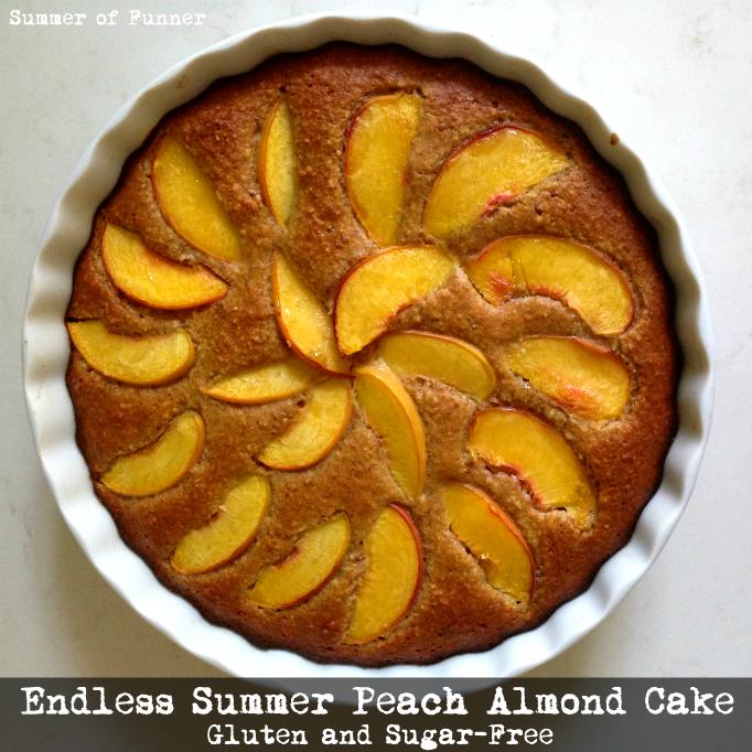 Summer of Funner's Gluten and Sugar Free ENDLESS SUMMER PEACH ALMOND CAKE