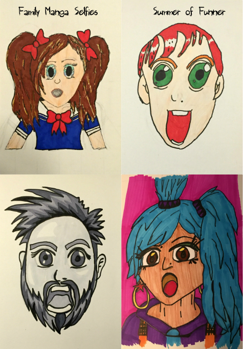Family DIY Manga Selfies from Summer of Funner