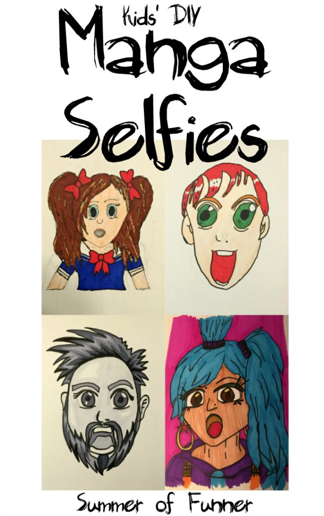 Kids' DIY Manga Selfies from Summer of Funner
