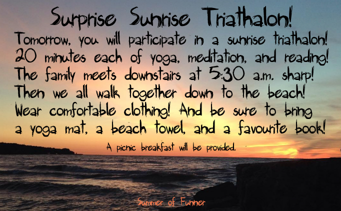 Summer of Funner introduces its first ever Surprise Sunrise Triathalon