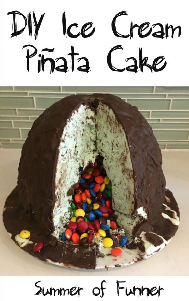Summer of Funner's DIY Ice Cream Pinata Cake Full Tutorial on the Blog