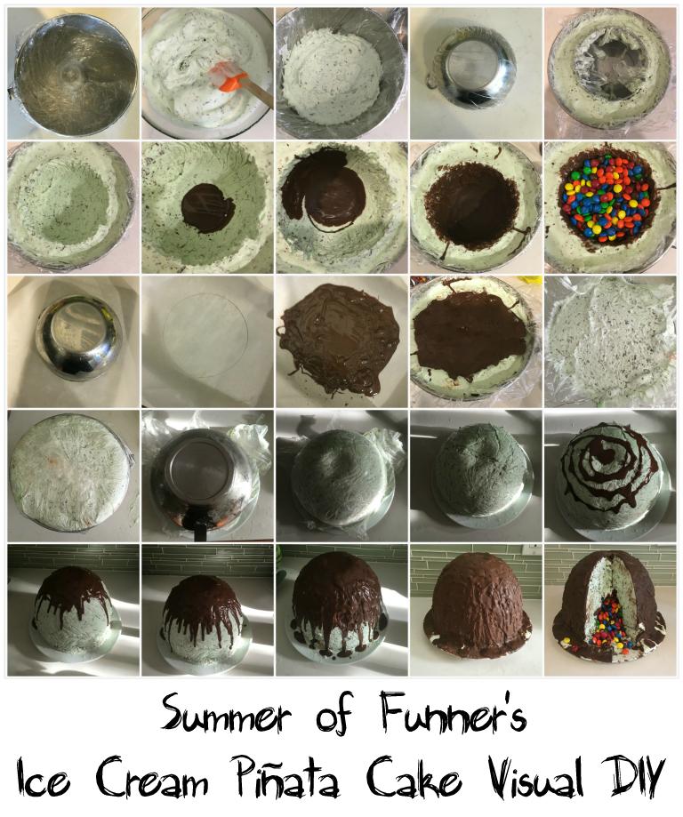 Summer of Funner's Ice Cream Piñata Cake Visual DIY