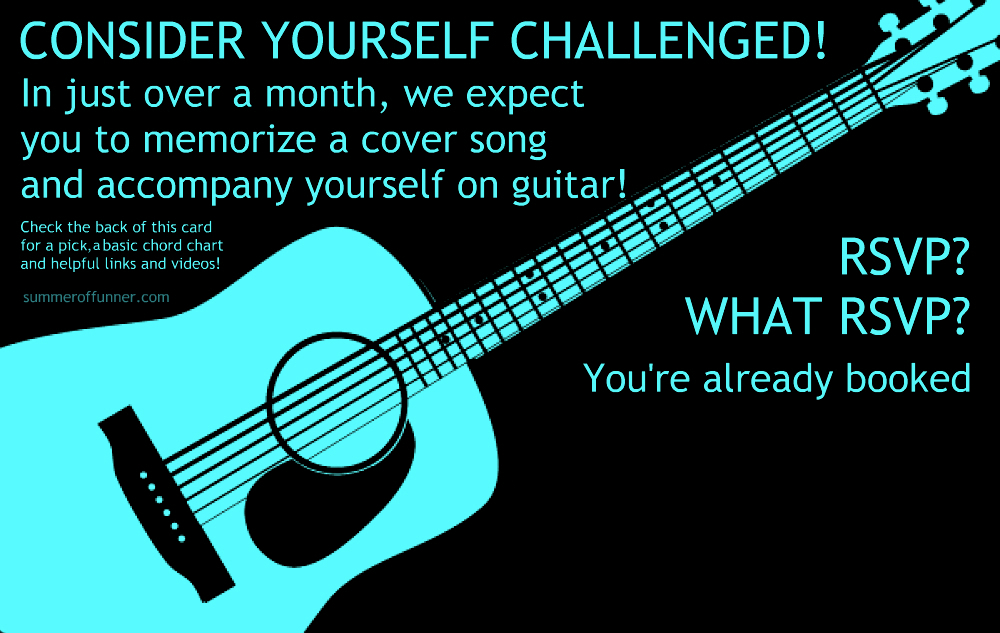 Summer of Funner's Printable Summer Guitar Challenge - feel free to copy and edit, but please don't sell or pass off as your own